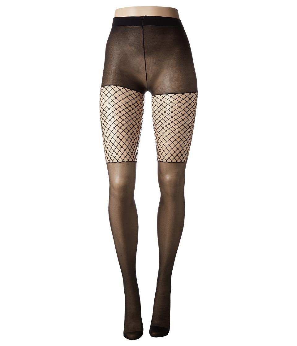 Pretty Polly - Thigh Net Tights (Black) Hose