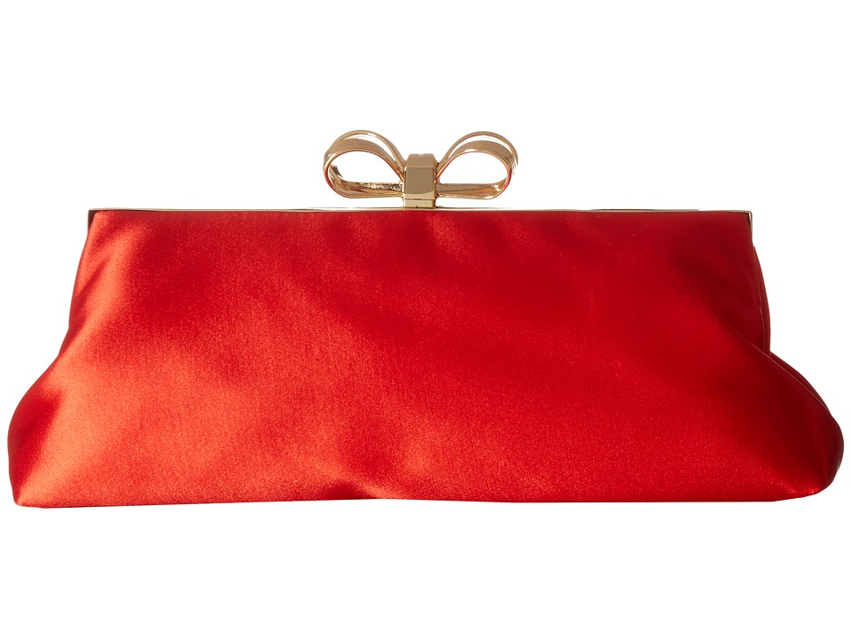 Ted Baker Small Bow Evening Bag (Bright Red) Clutch Handbags