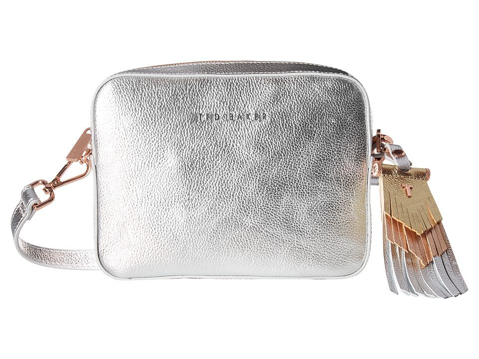 Ted Baker - Metallic Tassel Camera Bag (Silver) Handbags