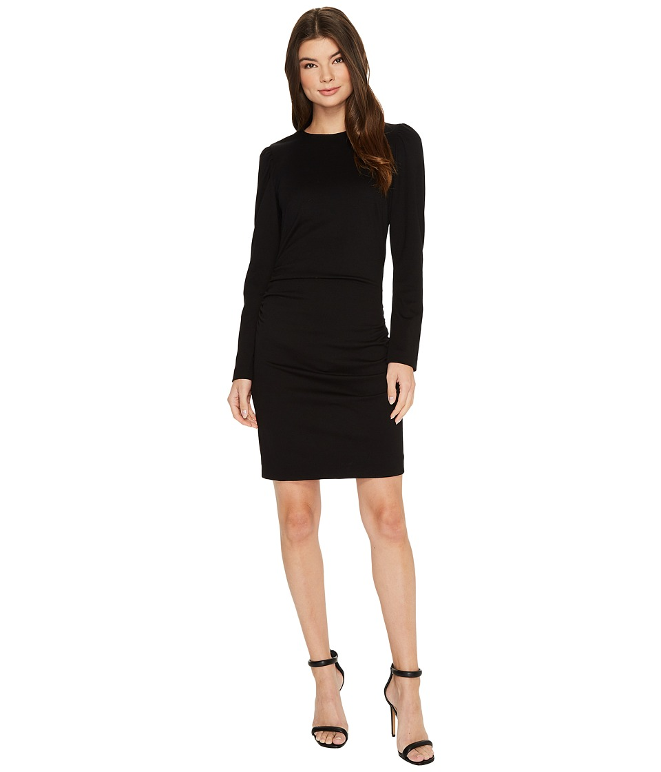 Nicole Miller - Asymmetrical Exaggerated Shoulder Ponte Dress