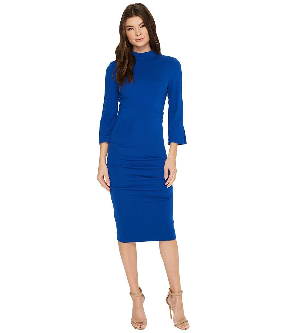 Nicole Miller Molly Ponte Dress (Blue) Women