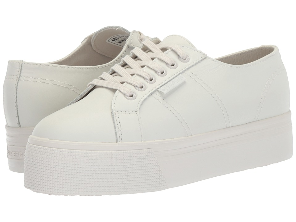 Superga - 2750 FGLU Platform Sneaker (Ice) Womens Lace up casual Shoes