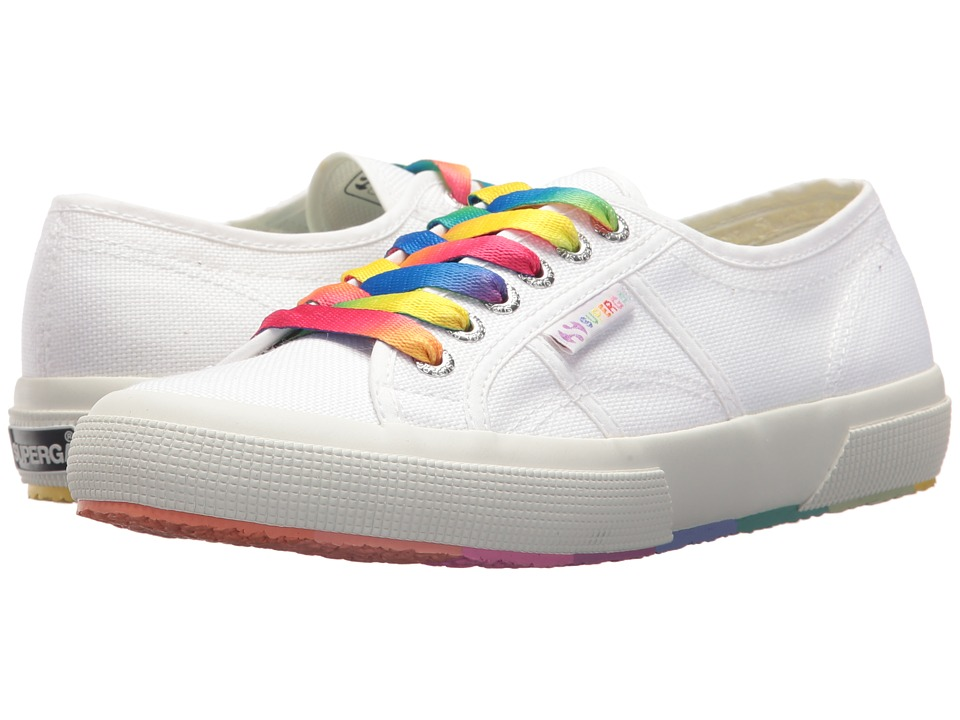 Superga - 2750 COTW Multicolors Outsole Sneaker (White Multi) Womens Shoes