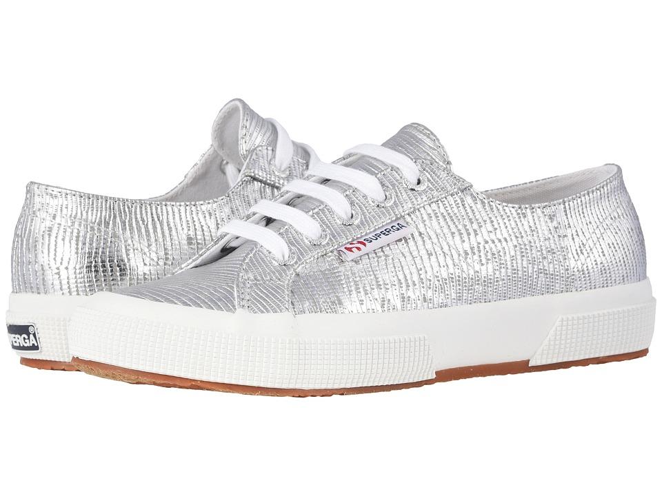 Superga - 2750 Lizardchromw Sneaker (Silver) Womens Shoes