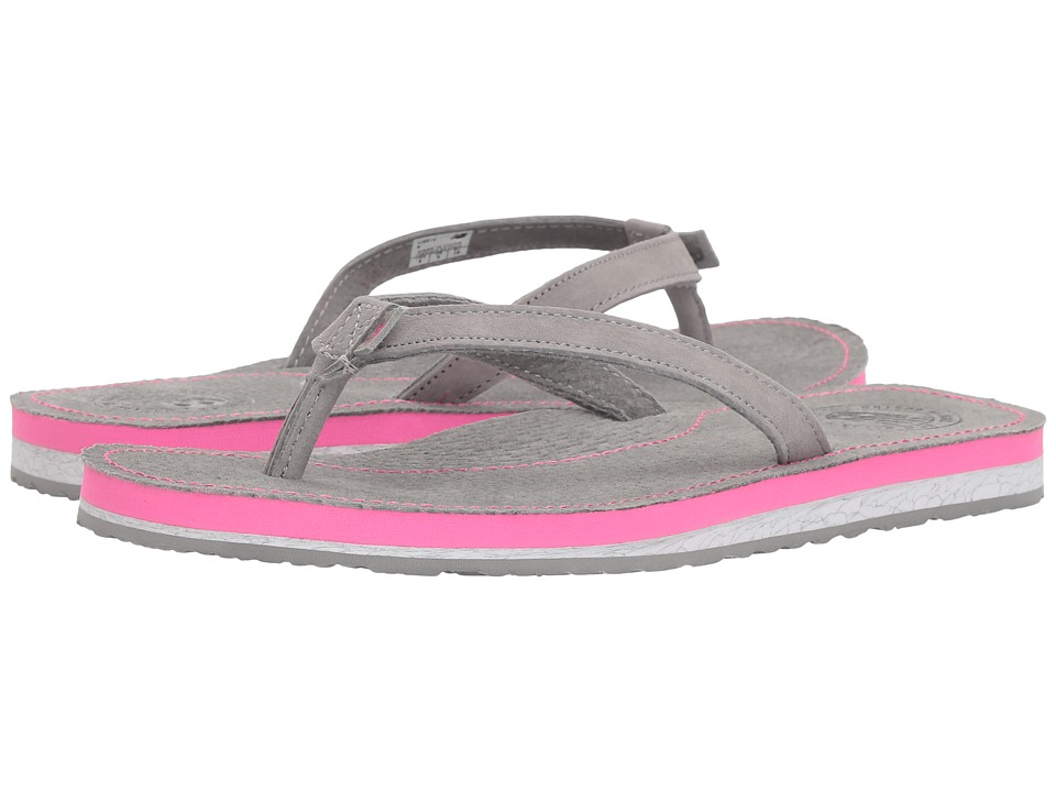 New Balance - Classic Thong (Grey/Pink) Women's Sandals