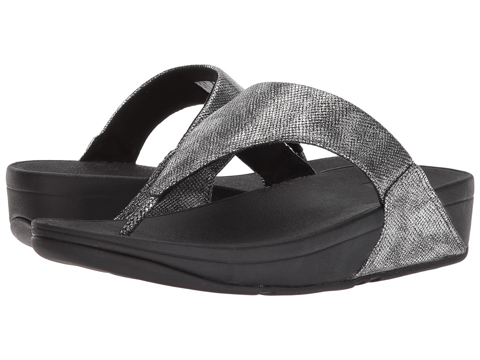 FitFlop - Lulu Toe-Thong Sandal (Black Shimmer Print) Women's Sandals