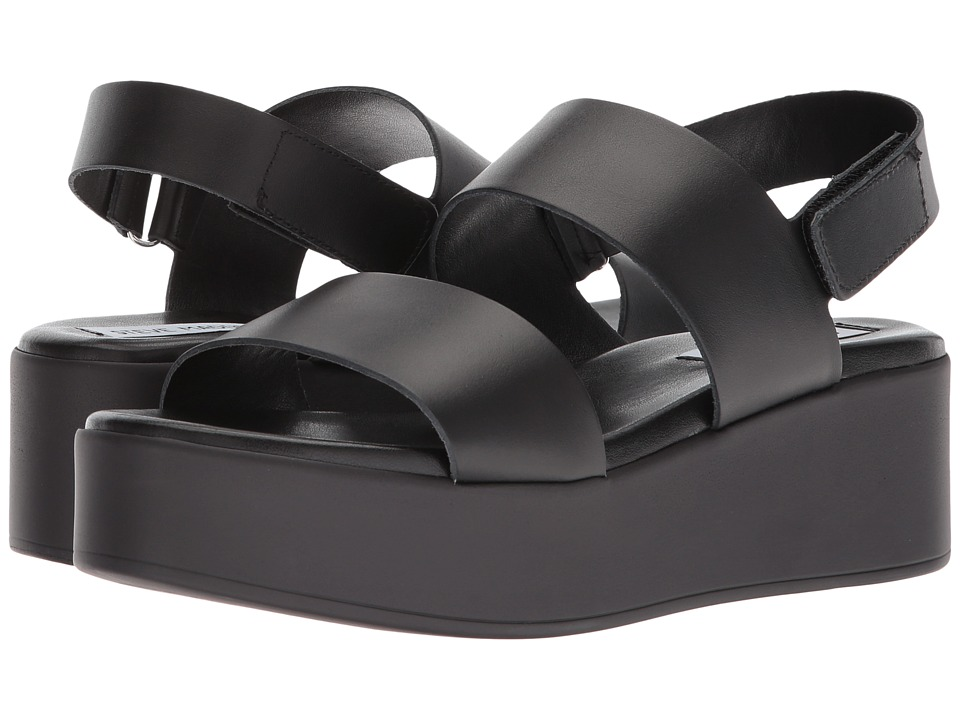 Steve Madden - Rachel Platform (Black Leather) Women's Sandals