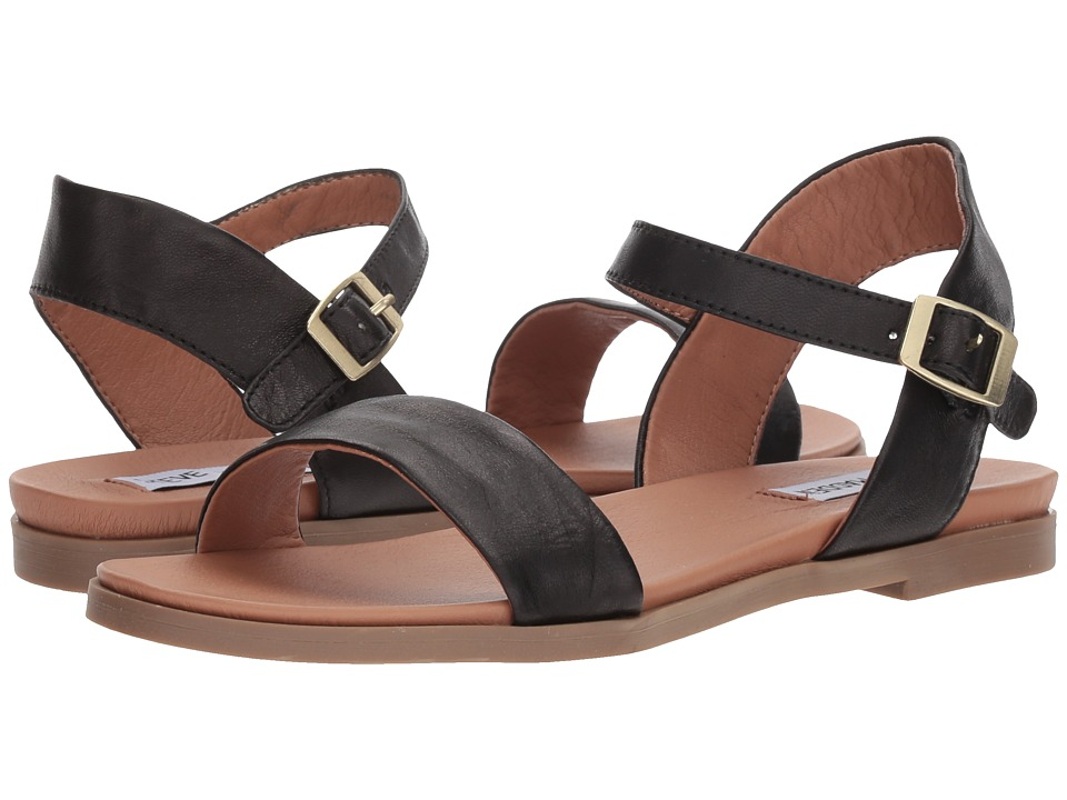Steve Madden - Dina (Black Leather) Women's Sandals