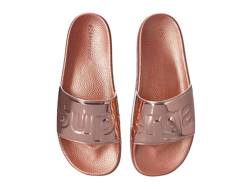 Superga - 1908 PUMETU Slide Sandal (Rose Gold) Womens Shoes