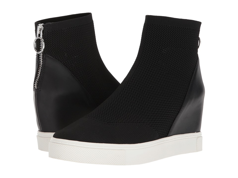Steve Madden - Lizzie Wedge Sneaker (Black) Womens Shoes