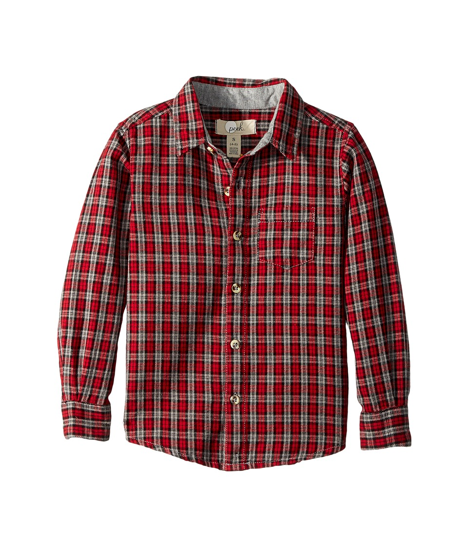 Sam Edelman Eddie Plaid Shirt (Toddler/Little Kids/Big Ki...