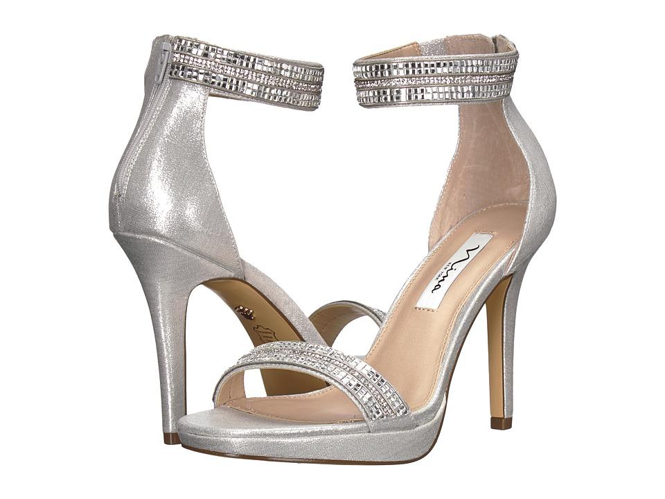 Nina Aubrie (True Silver Reflective Suedette) High Heels