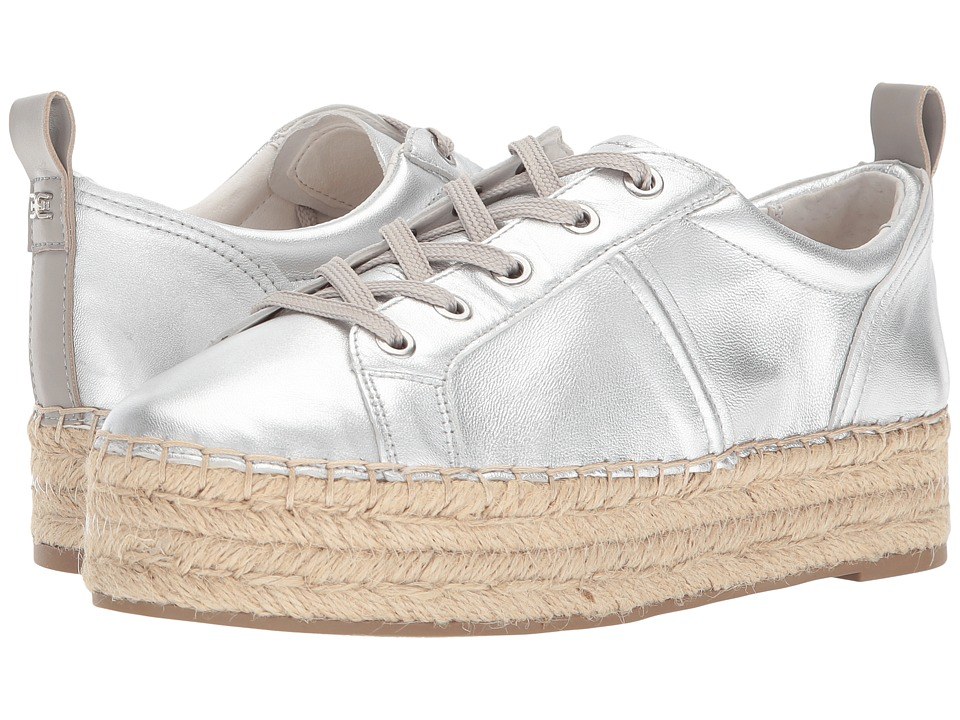 Sam Edelman - Carleigh (Soft Silver Soft Metallic Sheep Leather) Womens Lace up casual Shoes