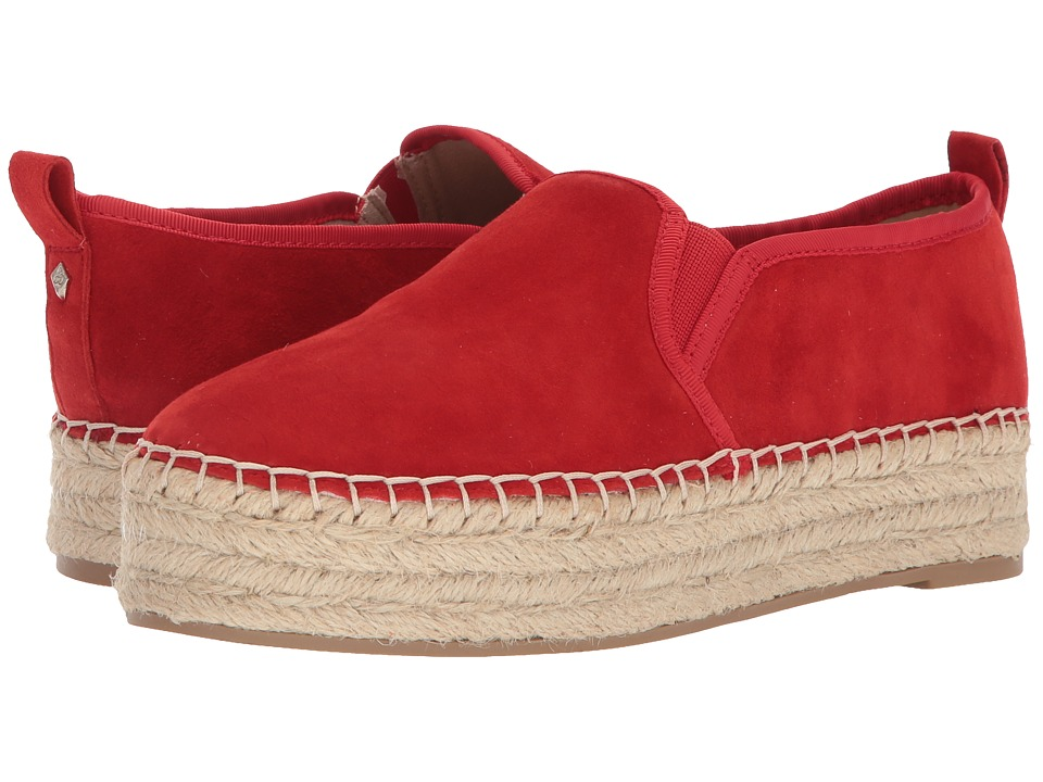 Sam Edelman Carrin (Candy Red Kid Suede Leather) Slip-On Shoes
