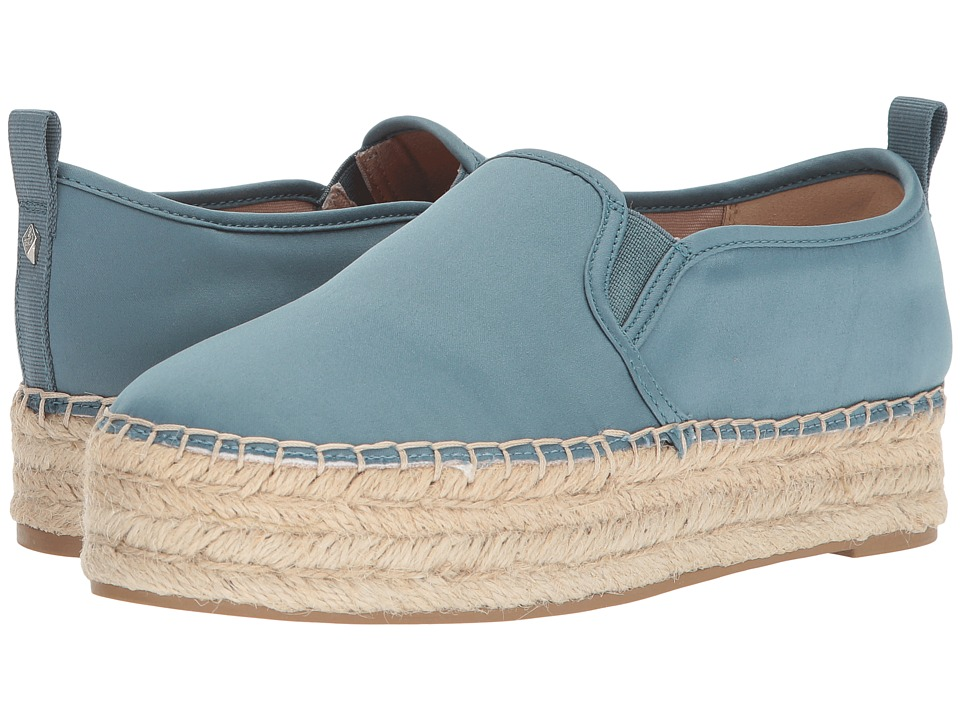 Sam Edelman Carrin (Blue Shadow Matte Satin) Slip-On Shoes