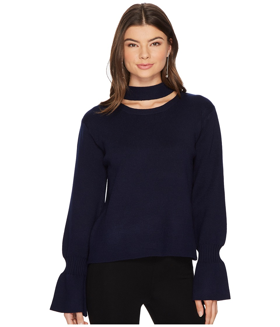 J.O.A. - Choker Neck Pullover (Navy) Womens Sweater