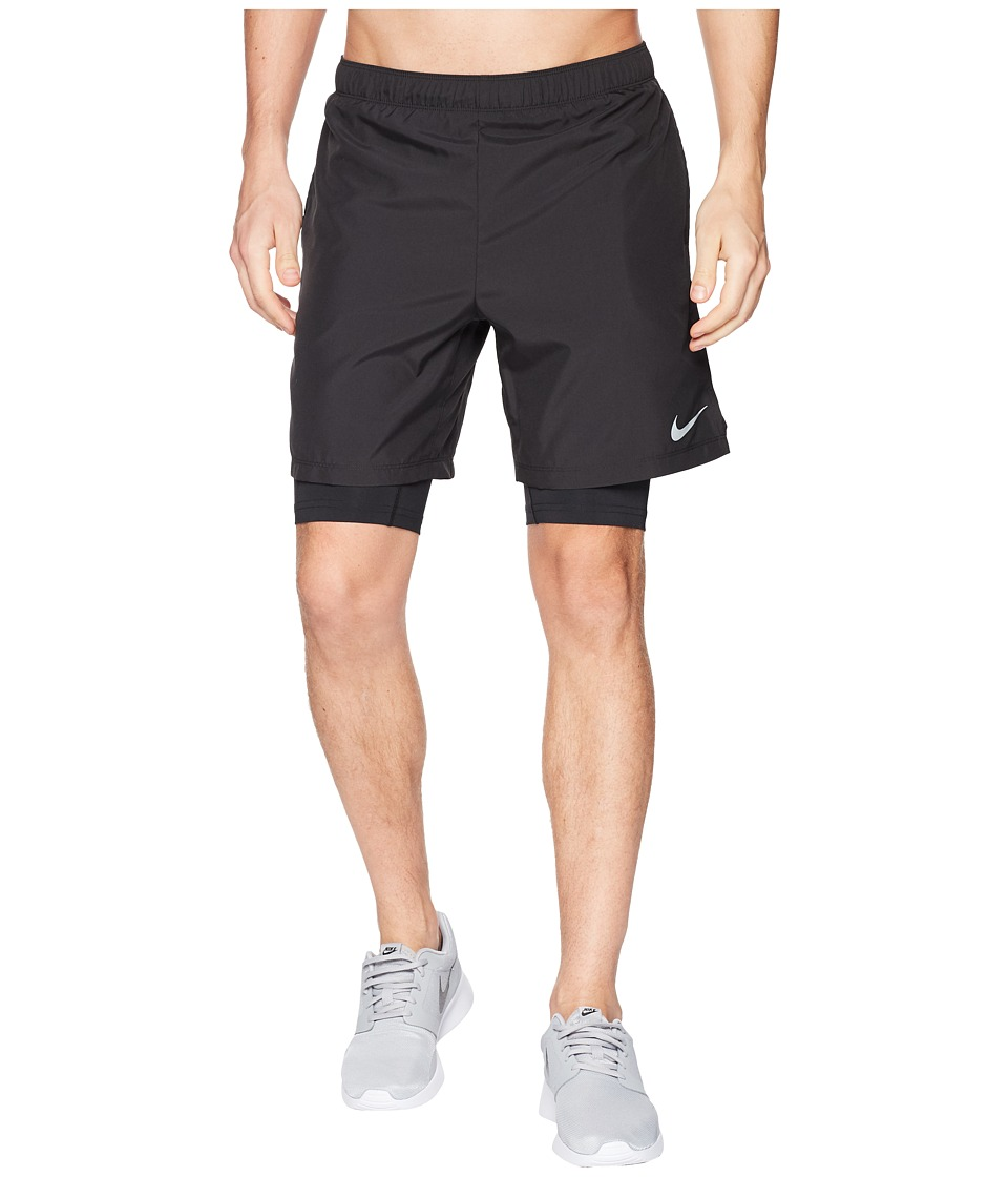 Nike Dry Shorts Challenger 7 2-in-1 (Black/Black) Men