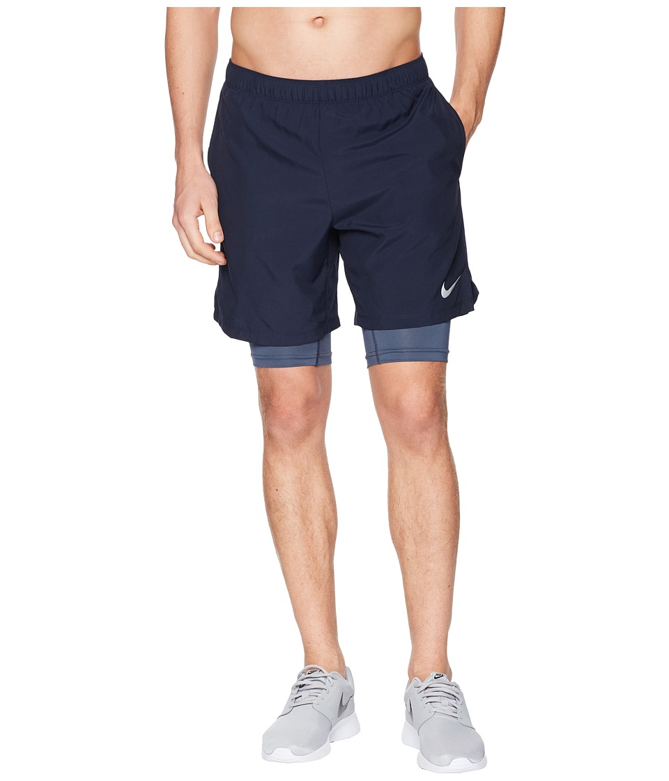 Nike Dry Shorts Challenger 7 2-in-1 (Obsidian/Thunder Blue) Men