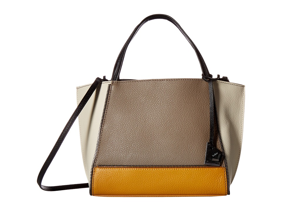 Botkier - Soho Bite Size (Truffle Color Block) Satchel Handbags