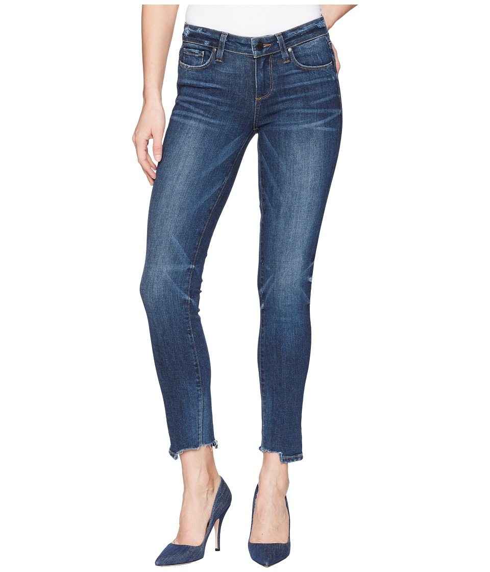Paige Electric Skyline Ankle Peg w/ Shredded Hem in Coley...