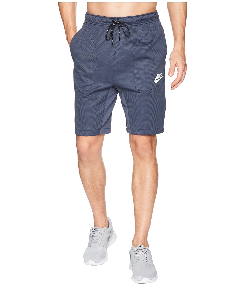 Nike NSW AV15 Shorts Fleece SU (Thunder Blue/White) Men