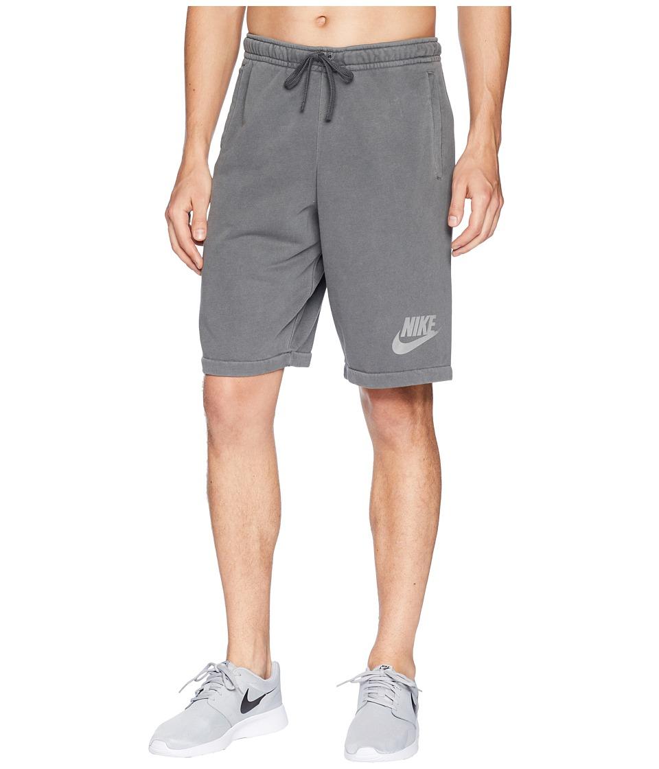 Nike NSW Shorts French Terry Wash HBR (Black/Anthracite/White) Men