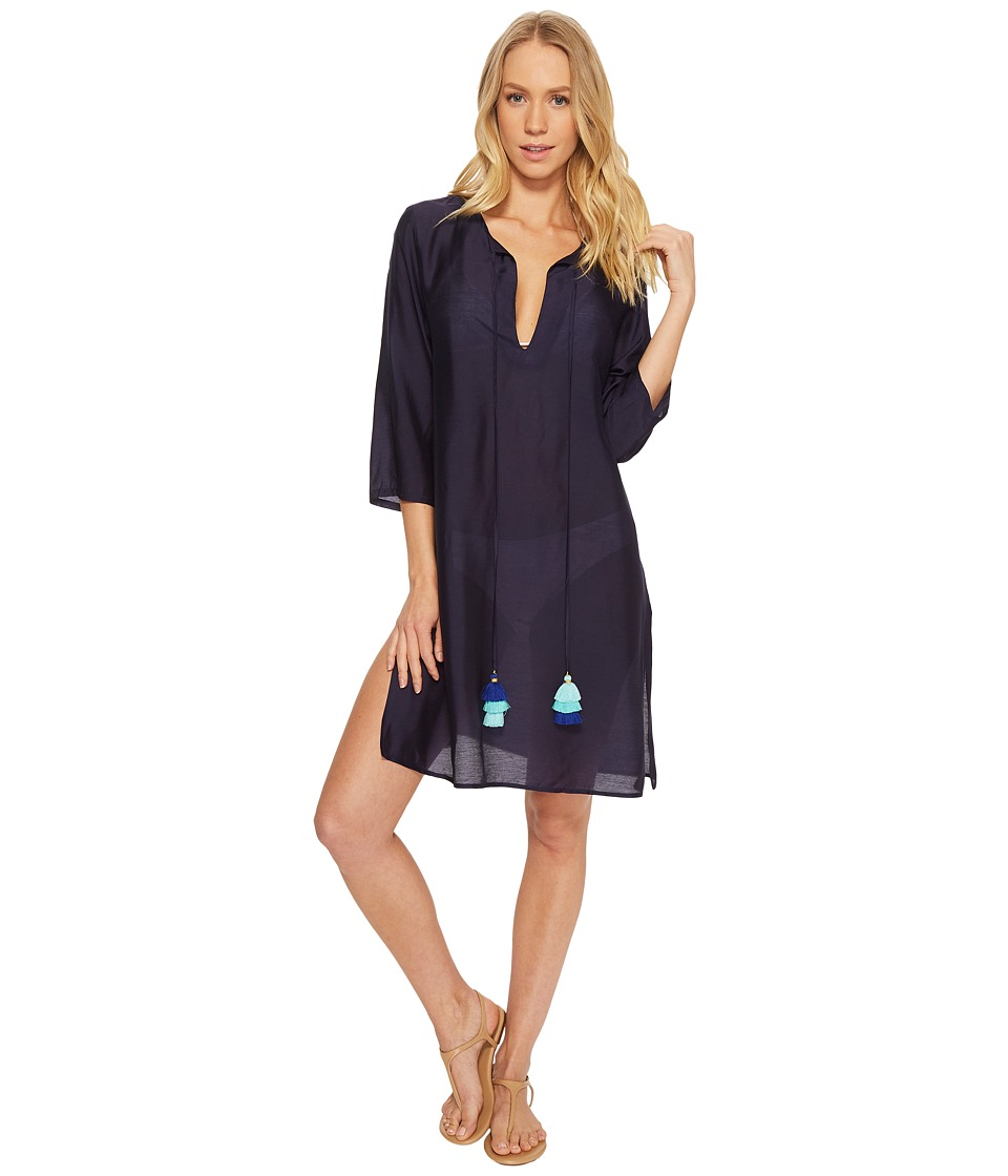 Echo Design Solid Tunic Cover-Up (Navy)