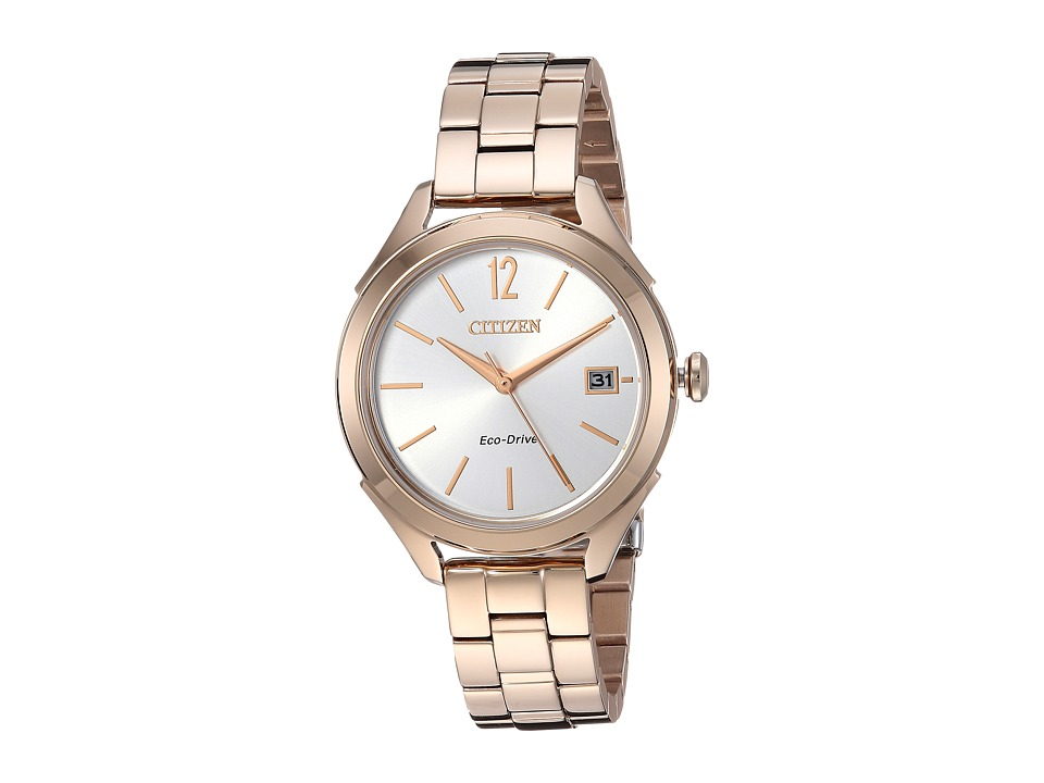 Citizen Watches - FE6143-56A Eco-Drive (Rose Gold Tone) W...