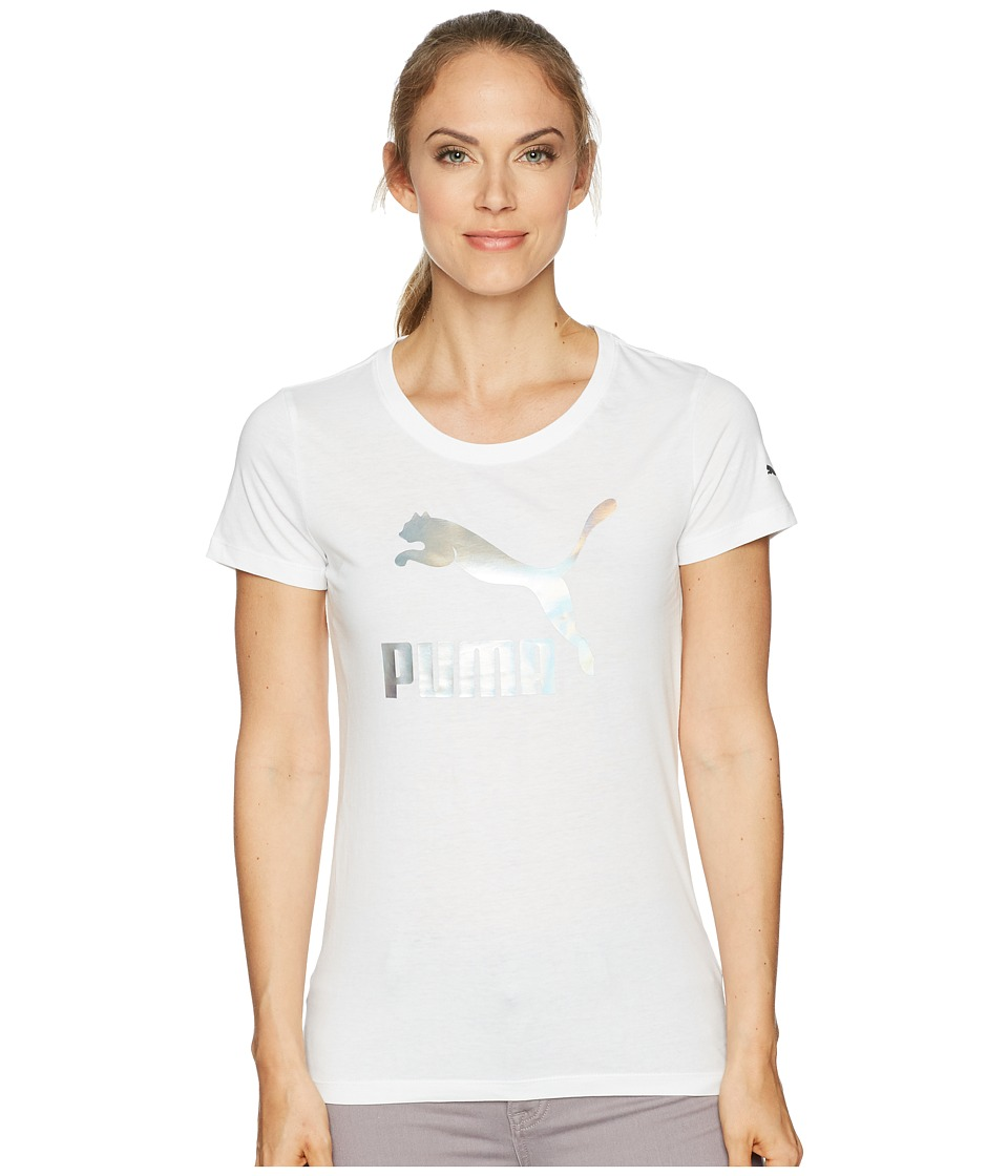 PUMA - Archive Life Tee (Puma White/Iridescent) Womens T Shirt
