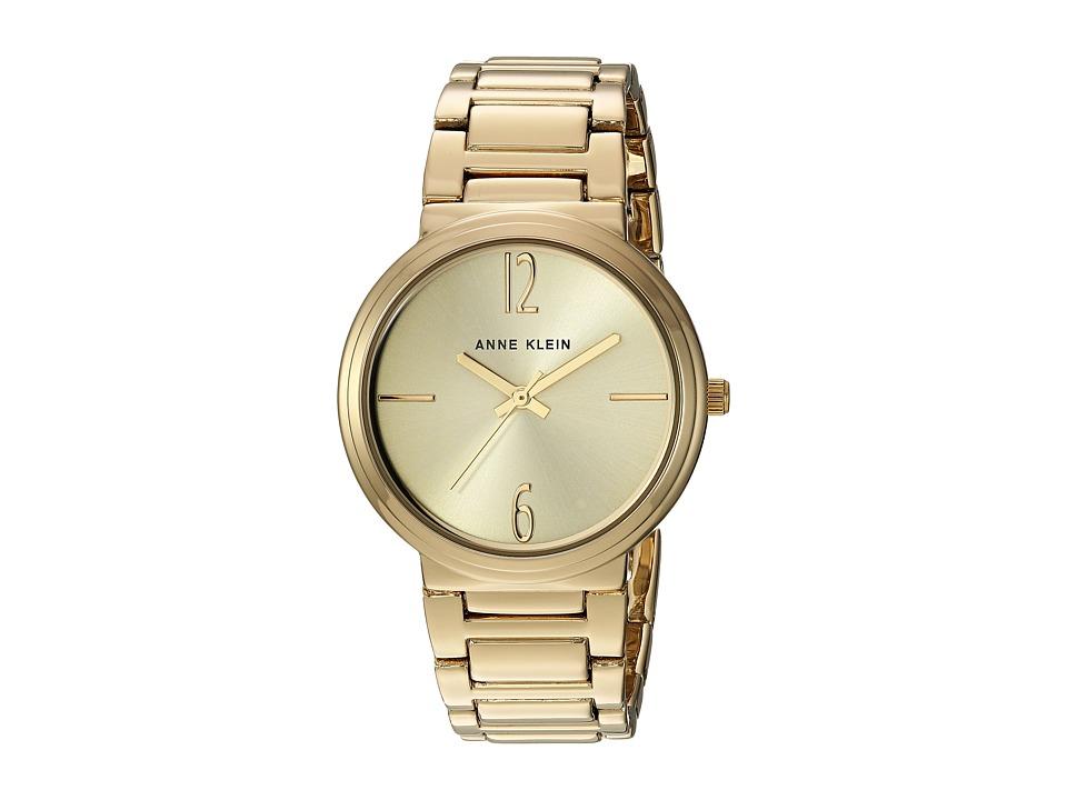 Anne Klein - AK-3168CHGB (Gold/Tone) Watches