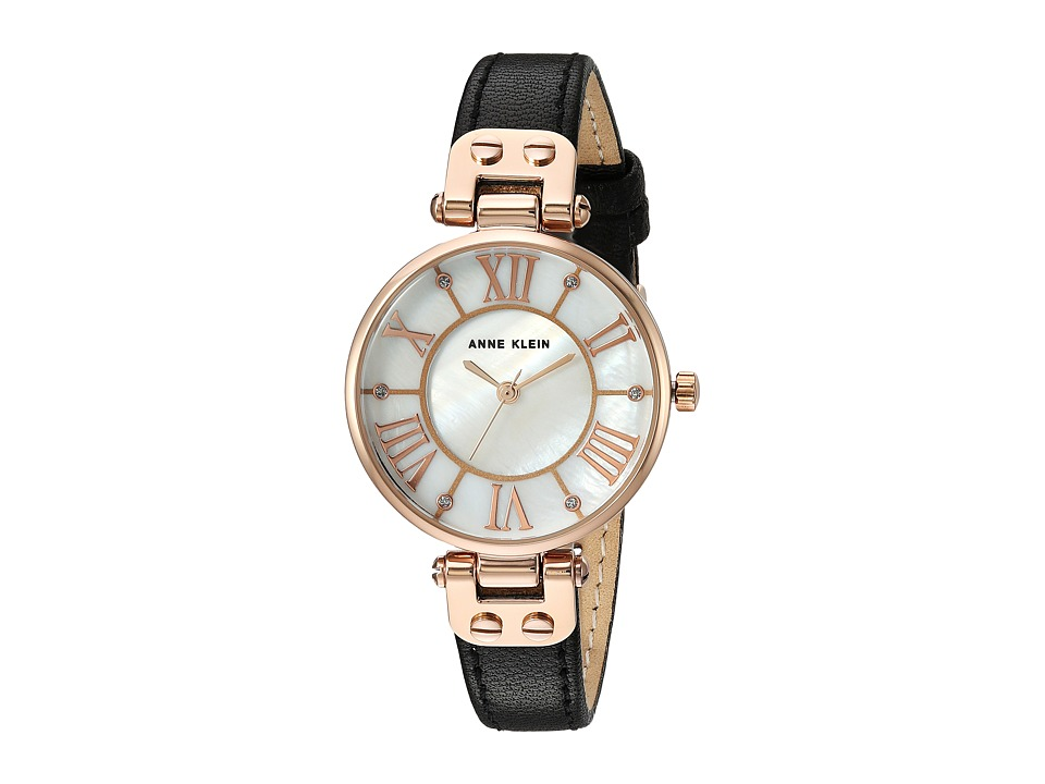 Anne Klein - AK-2718RGBK (Black/Rose Gold/Tone) Watches