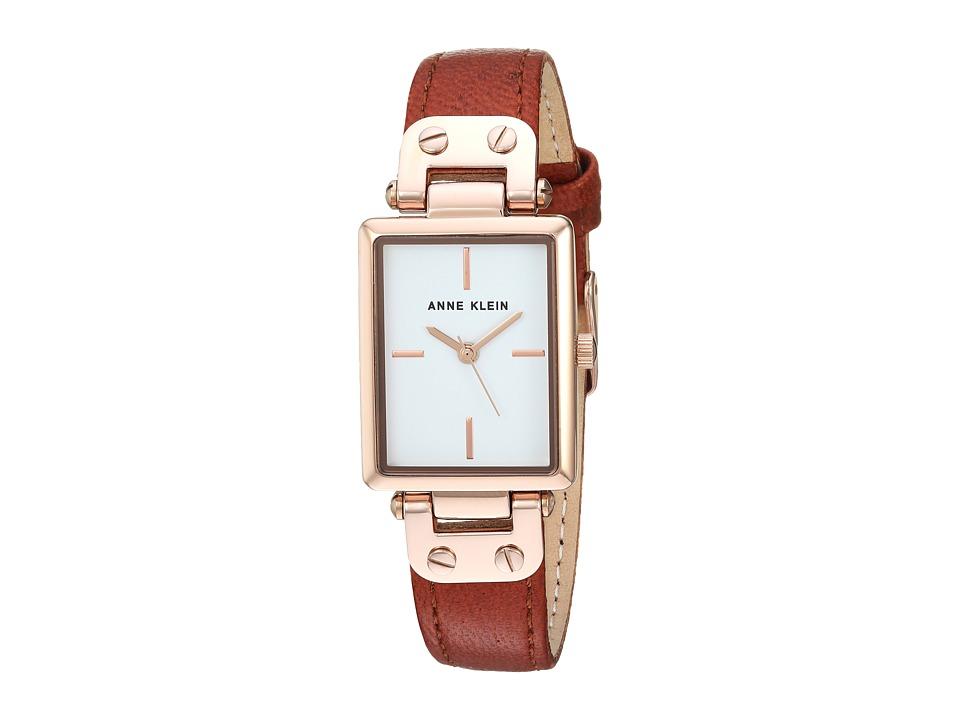 Anne Klein - AK-3204RGRU (Brown/Gold/Tone) Watches