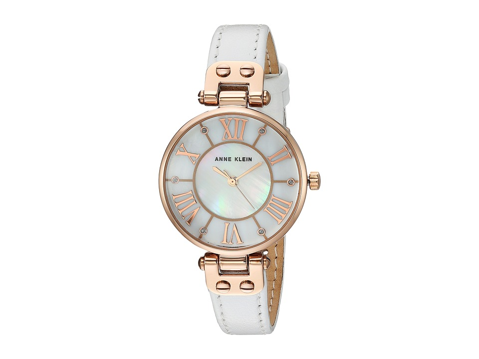 Anne Klein - AK-2718RGWT (White/Rose Gold/Tone) Watches