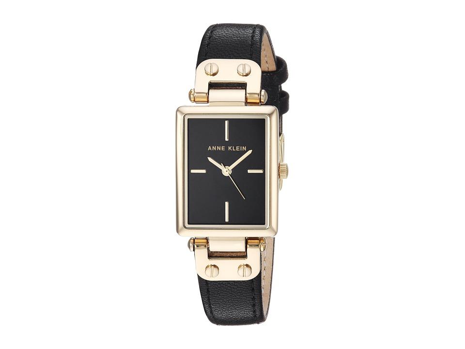 Anne Klein - AK-3204BKBK (Black/Gold/Tone) Watches