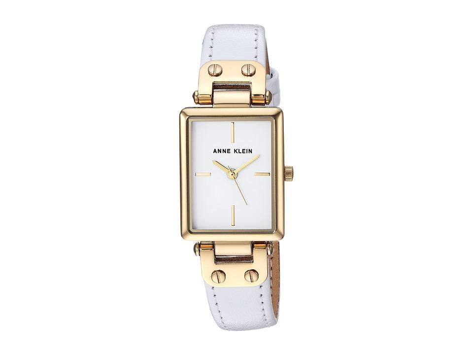 Anne Klein - AK-3204WTWT (White/Gold/Tone) Watches