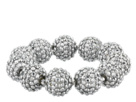 Kenneth Jay Lane Crystal Pave Ball Stretch Bracelet