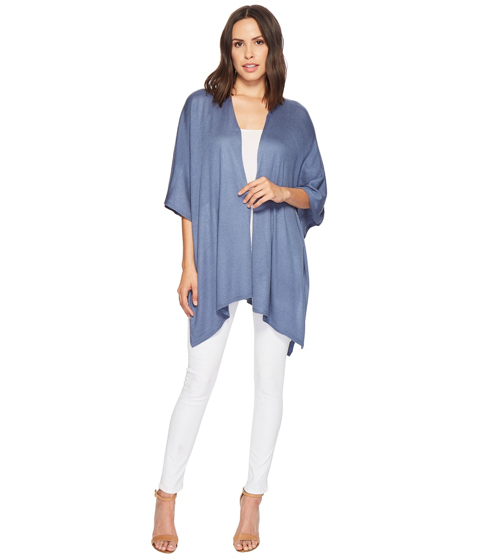 Echo Design - Everyday Luxe Ruana (Chambray) Womens Short Sleeve Pullover