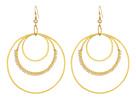 Chan Luu Triple Hoop Earrings with Beaded Semi Precious Stones