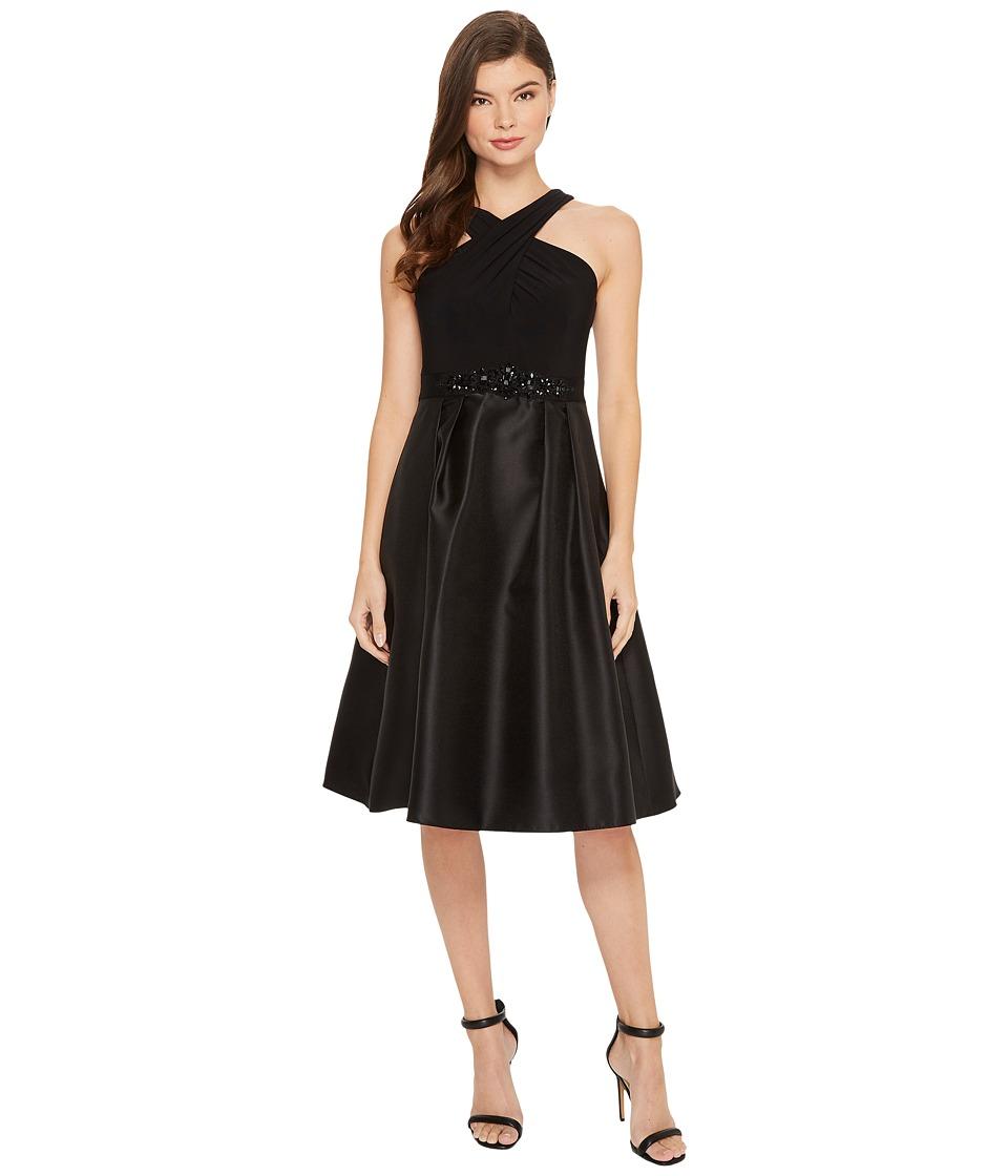 Adrianna Papell - Crisscross Neck Halter Cocktail Dress