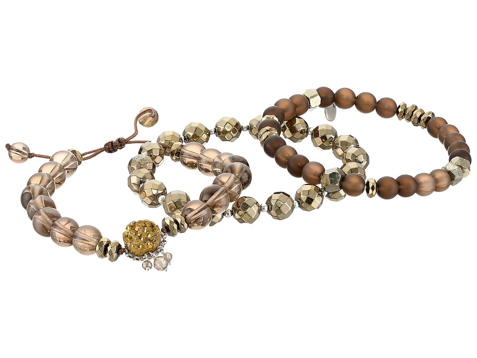 CHAN LUU 18 Karat Gold Plated Agate and Semi Precious Sto...