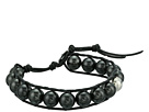 Chan Luu Single Wrap Bracelet on Leather with Crystal Pearls
