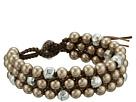 Chan Luu Triple Stacked Single Wrap Bracelet with Crystal Pearls