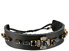 Chan Luu Leather Adjustable Bracelet with Crystals