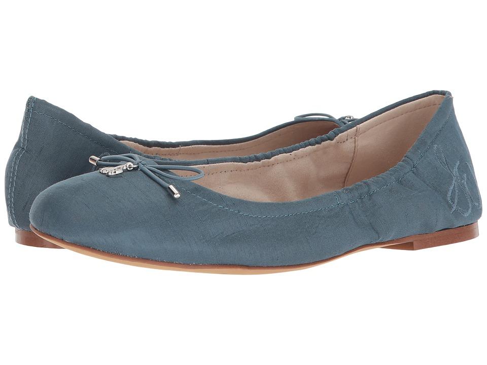 Sam Edelman Felicia (Blue Shadow Silk Dupioni) Flats