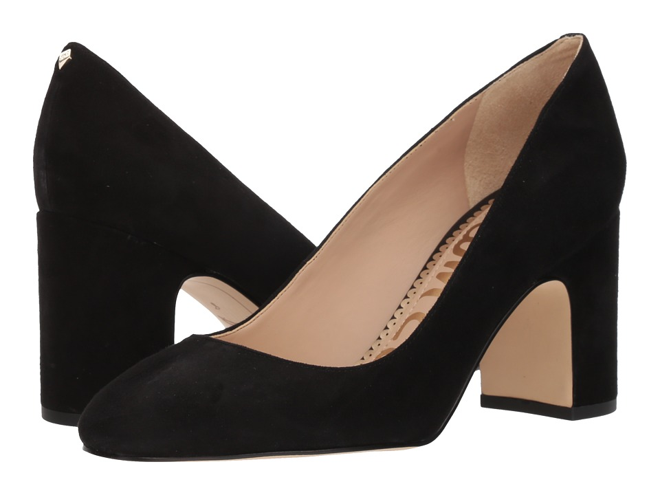 Sam Edelman - Junie (Black Kid Suede Leather) Womens Shoes