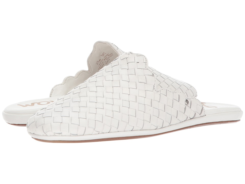 Sam Edelman - Katy (White Woven Leather) Womens Clog/Mule Shoes