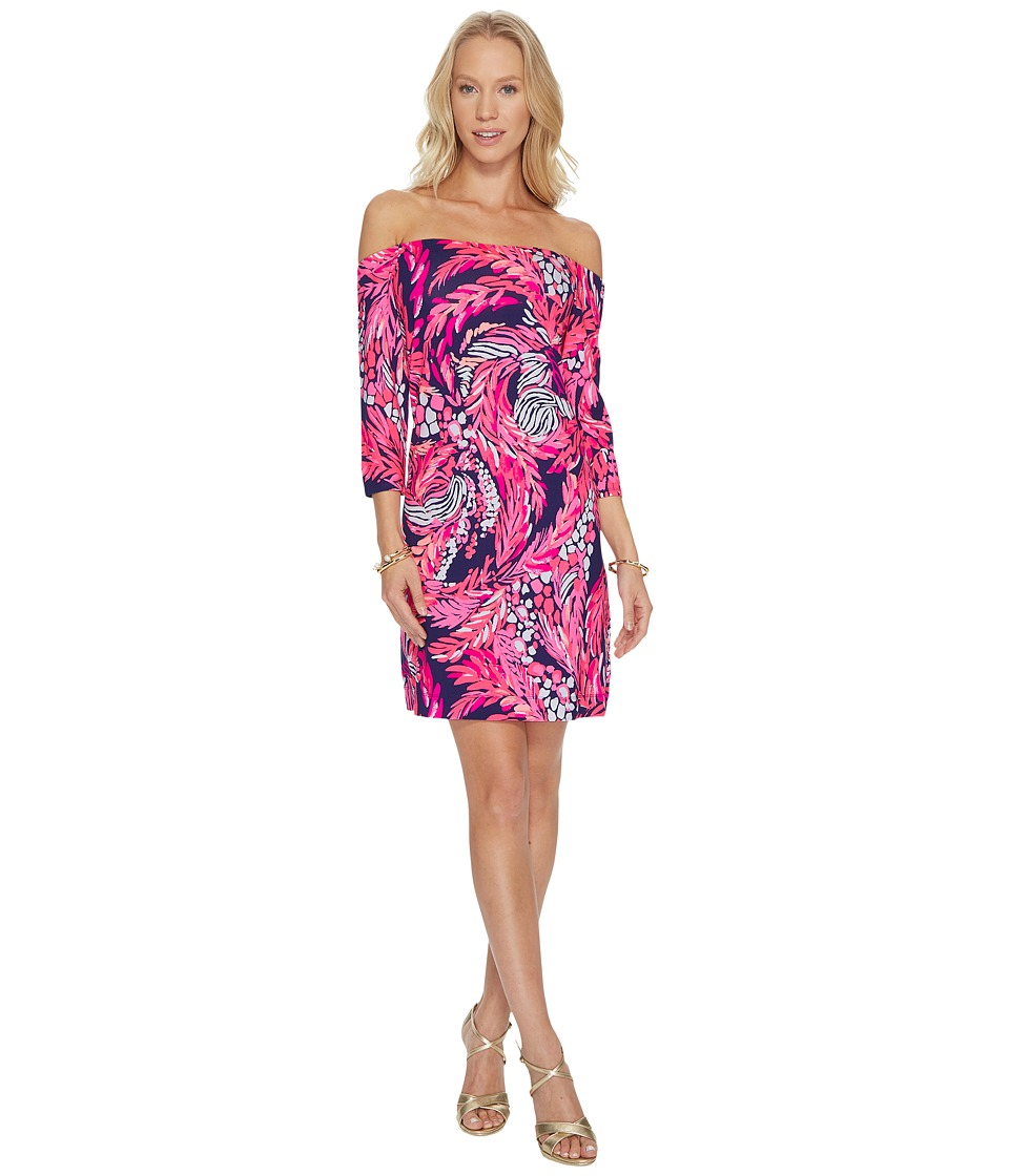 Lilly Pulitzer Laurana Dress (Bright Navy A Jungle in Here) Women
