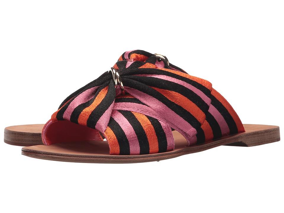 Diane von Furstenberg Bella (Orange/Black/Rose Ribbon) Women's Shoes