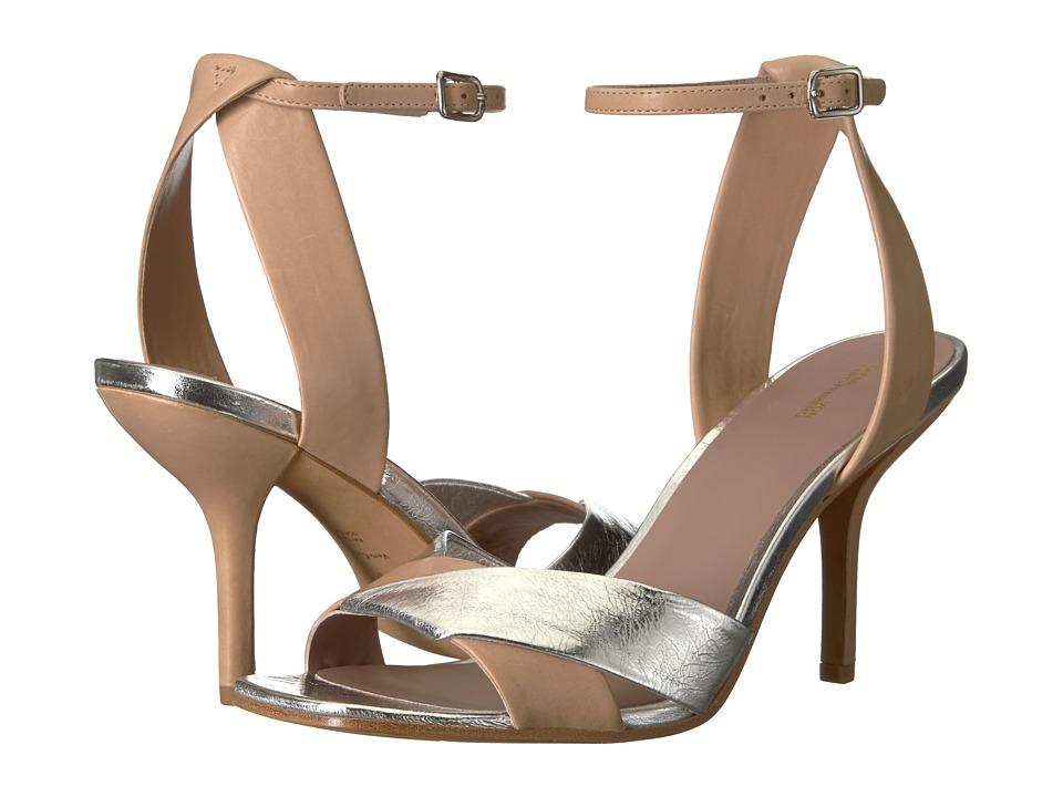 Diane von Furstenberg - Fiona (Cappuccino/Silver Leather) Womens Shoes