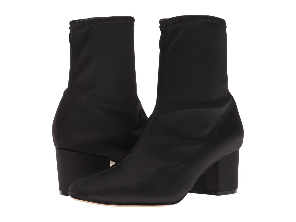 Joie Yvettia (Black Stretch Satin) Women's Pull-on Boots